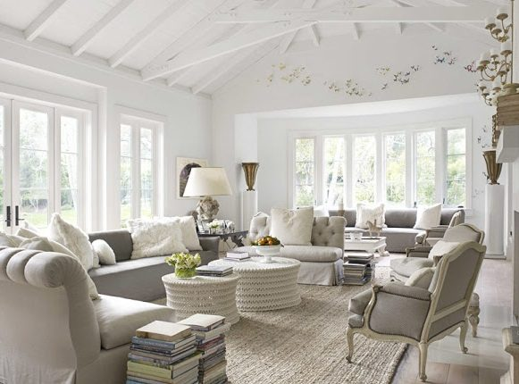 Casa de decoraci n francesa im genes y fotos - Gorgeous pictures of black white and grey living room decoration ideas ...
