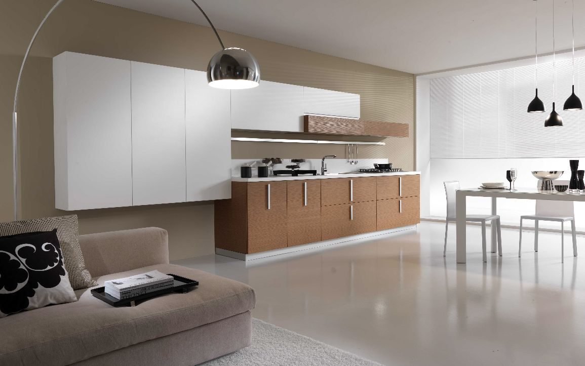 Cocina abierta minimalista im genes y fotos for Articulos de decoracion minimalista