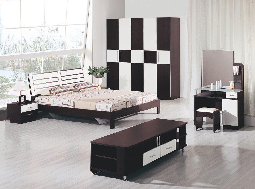 dormitorio moderno en blanco y negro - Decoracion Moderna