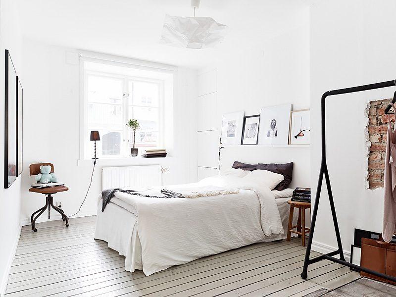 Habitaci n blanca de estilo n rdico im genes y fotos for Dormitorio estilo nordico ikea
