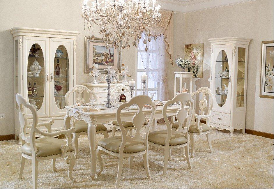 Mesa y sillas de comedor de estilo franc s im genes y fotos for Estilos de sillas para comedor
