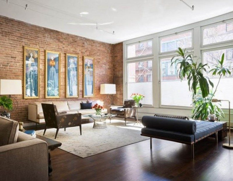 new york living room ideas pared de ladrillos estilo loft im 225 genes y fotos 22450